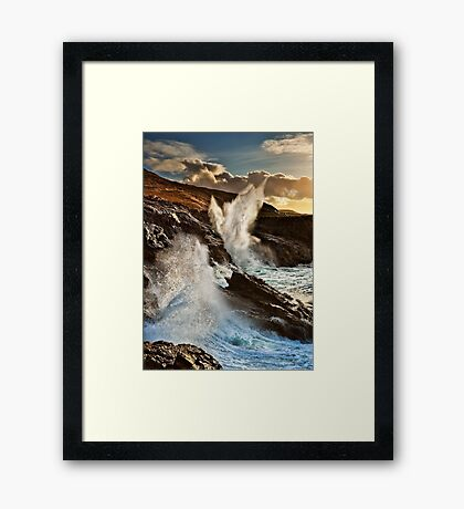 The Blow Hole Framed Print