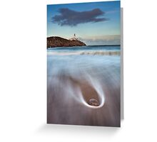 Rock On The Beach Greeting Card
