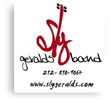 Sly Geralds Band Logo Canvas Print
