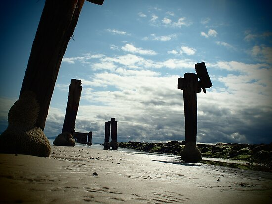 Old Pier a different view by Andrew (ark photograhy art)