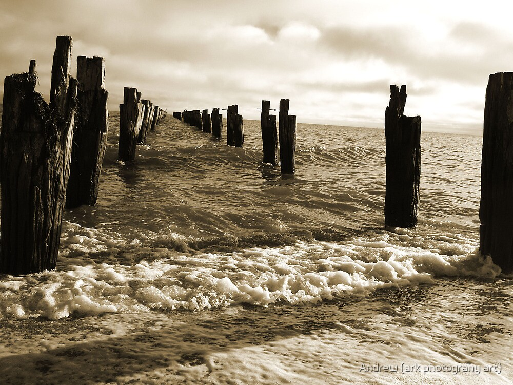 Old Pier near Clifton Springs by Andrew (ark photograhy art)