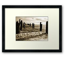 Old Pier near Clifton Springs Framed Print