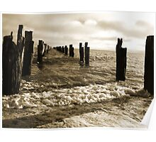 Old Pier near Clifton Springs Poster