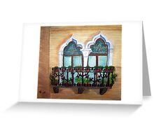 The Balcony Greeting Card