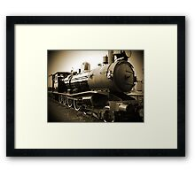 Steam Train in Queenscliff Framed Print