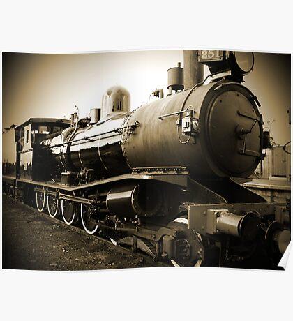 Steam Train in Queenscliff Poster