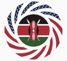 Kenyan American Multinational Patriot Flag Series by Carbon-Fibre Media
