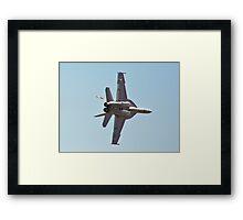 F/A-18 Hornet High G Turn Framed Print
