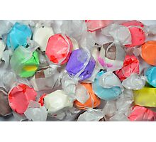 Colorful taffy candy Photographic Print