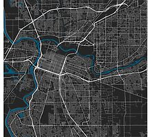 Sacramento city map black colour by mmapprints