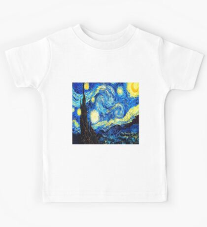 Starry Night - Vincent Van Gogh Kids Tee