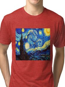 Starry Night - Vincent Van Gogh Tri-blend T-Shirt