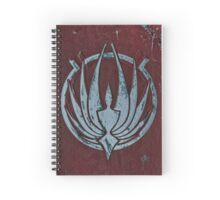 BSG Phoenix Spiral Throw Pillow Spiral Notebook