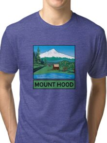 Oregon Scenic Byway - Mount Hood Tri-blend T-Shirt