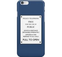 TARDIS Door Sign iPhone Case/Skin