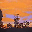 Jaffa Dusk Painting by Dawnsuzanne