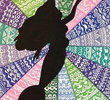 Original Ariel inspired zentangle art by sierraD123