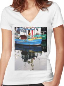 Burtonport Dungloe Co. Donegal Ireland Women's Fitted V-Neck T-Shirt