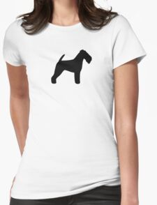 Welsh Terrier Silhouette(s) Womens Fitted T-Shirt