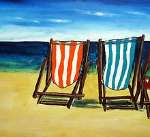At the Beach  by gillsart