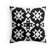 Native American geometric pattern Throw Pillow