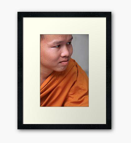 Monk Chat Framed Print