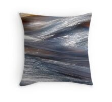 Currently Blue Throw Pillow