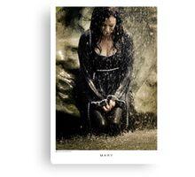 Mary McDonnell - BSG THROW PILLOW Canvas Print
