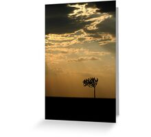 Sunset Over Masai Mara, Kenya Greeting Card