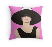 Audrey Hepburn Breakfast at Tiffanys Throw Pillow