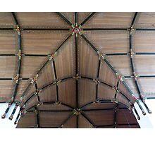 Wooden cross vault Photographic Print