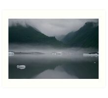 Mist Rising from Glacial Waters Art Print