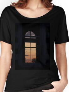 Twilight window  Church,-  Magilligan County Derry Ireland Women's Relaxed Fit T-Shirt