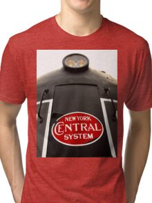 Big train rolling down the line..Sometimes I wish to ride away Tri-blend T-Shirt