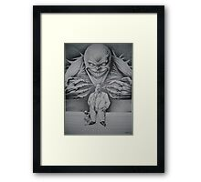 the shadow king Framed Print