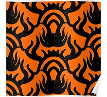Bold pattern with thai athnic motifs Poster