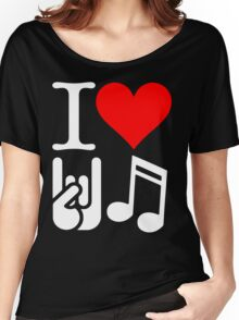 I Love Rock N Roll  Women's Relaxed Fit T-Shirt