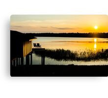 Watching the Sun Go Down Canvas Print