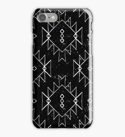 Navajo tribal ornament in b/w iPhone Case/Skin