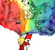 Calvin and Hobbes  by KirstieCatLady