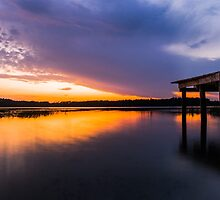 Fire at Sunset by Parker Cunningham