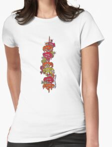 Crab Stick Womens Fitted T-Shirt