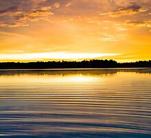 Ripples at Sunset by Parker Cunningham