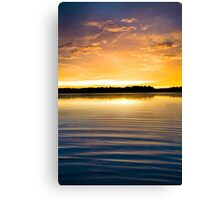 Ripples at Sunset Canvas Print