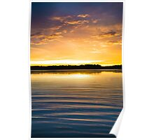 Ripples at Sunset Poster