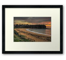 Morning - Mona Vale Beach, Sydney - The HDR Experience Framed Print