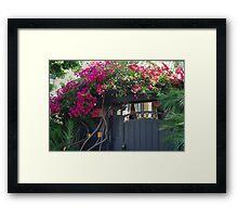 Rose Covered Door Framed Print