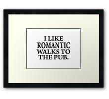 Romantic walks to..... Framed Print