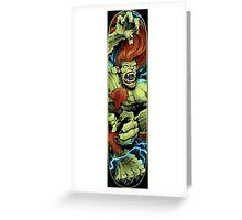 Blanka Street Fighter Skate Deck Greeting Card