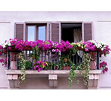 Roman Balcony Photographic Print